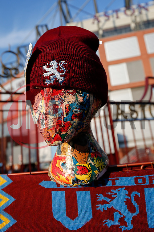 Aston Villa hats on sale outside Villa Park - Photo mandatory by-line: Rogan Thomson/JMP - 07966 386802 - 07/04/2015 - SPORT - FOOTBALL - Birmingham, England - Villa Park - Aston Villa v Queens Park Rangers - Barclays Premier League.