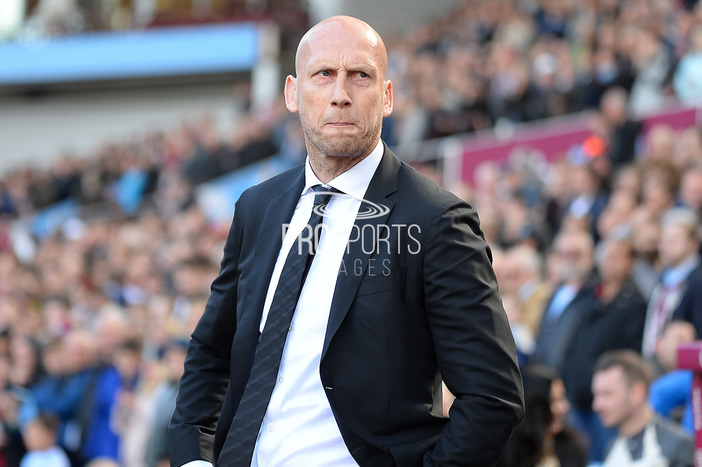 Reading manager Jaap Stam during the EFL Sky Bet Championship match between Aston Villa and Reading at Villa Park, Birmingham, England on 15 April 2017. Photo by Dennis Goodwin.