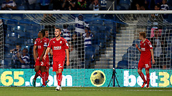 Swindon Town looks frustrated after conceding a goal to Yeni Atito Ngbakoto of Queens Park Rangers - Mandatory by-line: Robbie Stephenson/JMP - 10/08/2016 - FOOTBALL - Loftus Road - London, England - Queens Park Rangers v Swindon Town - EFL League Cup