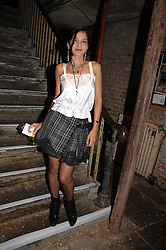 YASMIN MILLS at the Stephen Webster launch party of his latest jewellery collection during the London Jewellery Week, at Wilton's Music Hall, Graces Alley, Off Ensign Street, London E1 on 12th June 2008.<br />