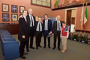 DESCRIZIONE : Roma Basket Day Hall of Fame 2014<br /> GIOCATORE : Simone Pianigiani Fabrizio Della Fiori Dan Peterson Toto Bulgheroni<br /> SQUADRA : FIP Federazione Italiana Pallacanestro <br /> EVENTO : Basket Day Hall of Fame 2014<br /> GARA : Roma Basket Day Hall of Fame 2014<br /> DATA : 22/03/2015<br /> CATEGORIA : Premiazione<br /> SPORT : Pallacanestro <br /> AUTORE : Agenzia Ciamillo-Castoria/GiulioCiamillo