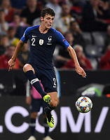 FUSSBALL UEFA Nations League in Muenchen Deutschland - Frankreich       06.09.2018 Benjamin Pavard  (Frankreich) --- DFB regulations prohibit any use of photographs as image sequences and/or quasi-video. ---
