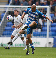 Photo: Alan Crowhurst.<br />Reading v Leeds Utd. Coca Cola Championship.<br />29/10/2005. Reading's James Harper controls the ball midfield.