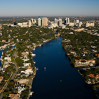 Aerial view of Fort Lauderdale and the New River