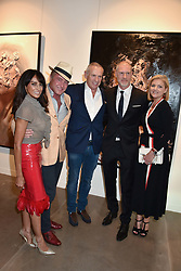 Jackie St.Clair, Michael Flatley, Carl Michaelson and Niamh Flatley at the launch of the new JD Malat Gallery, 30 Davies Street, London, England. 05 June 2018.