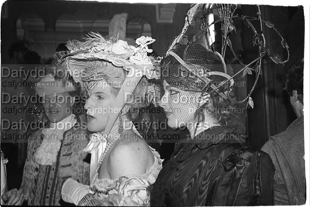 Paul Golding and Nigella Lawson at the Piers Gaveston Ball. 13 May 1983. Park Lane Hotel. London. © Copyright Photograph by Dafydd Jones 66 Stockwell Park Rd. London SW9 0DA Tel 020 7733 0108 www.dafjones.com