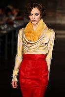 Denija Sarkanbiske walks down runway for F2012 L'Wren Scott's collection in Mercedes Benz fashion week in New York on Feb 12, 2012 NYC