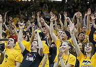 January 19 2013: The Iowa Hawkeyes student section cheers during the second half of the NCAA basketball game between the Wisconsin Badgers and the Iowa Hawkeyes at Carver-Hawkeye Arena in Iowa City, Iowa on Sautrday January 19 2013. Iowa defeated Wisconsin 70-66.