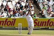 Dale Steyn hits out during the 2nd day of the 1st test match between South Africa and Australia held at Sahara Park Newlands Stadium,Cape Town, South Africa on the 10th November 2011..Photo by Ron Gaunt/SPORTZPICS