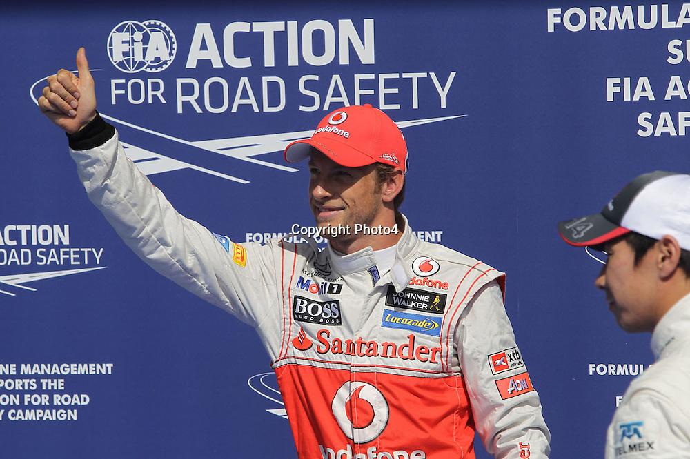 &copy; Photo4 / LaPresse<br /> 01/9/2012 Spa-Francorchamps, Belgium<br /> Belgian Grand Prix, Spa-Francorchamps 30 August - 02 September 2012<br /> In the pic: Jenson Button (GBR), McLaren  Mercedes, MP4-27 pole position