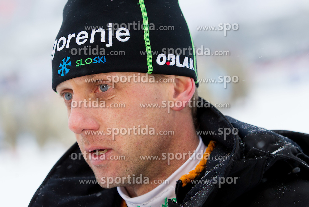 Matjaz Triplat, head coach of Slovenia during Normal Hill Individual Competition at FIS World Cup Ski jumping Ladies Ljubno 2012, on February 12, 2012 in Ljubno ob Savinji, Slovenia. (Photo By Vid Ponikvar / Sportida.com)