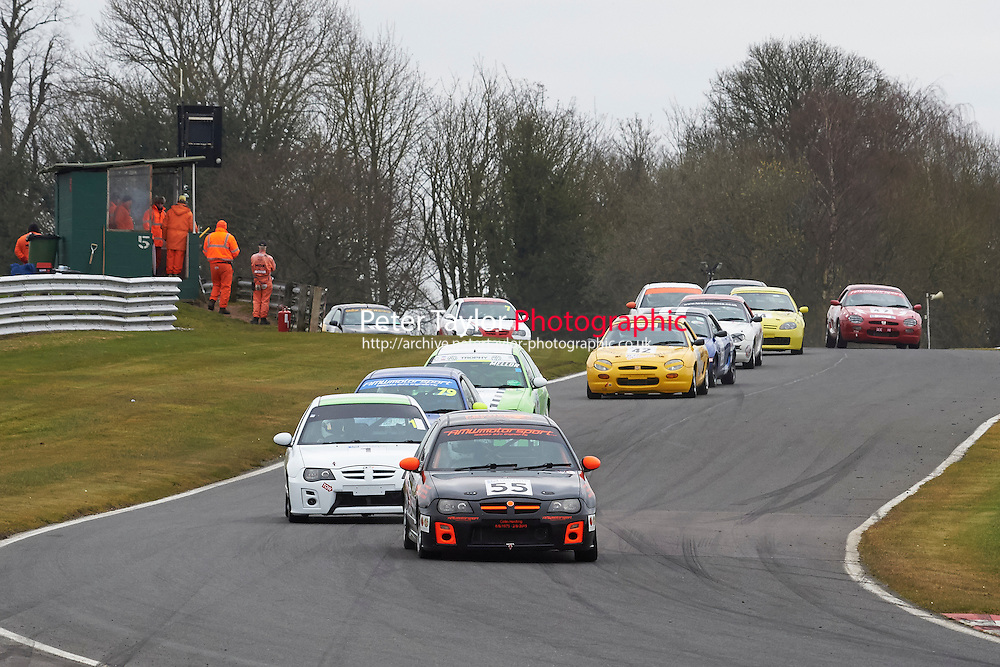 #55 Adrian WRAY MG ZR 1800 during Lancaster Insurance MG Owners Club Championship as part of the BARC NW - Championship Raceday  at Oulton Park, Little Budworth, Cheshire, United Kingdom. March 19 2016. World Copyright Peter Taylor/PSP. Copy of publication required for printed pictures.  Every used picture is fee-liable. http://archive.petertaylor-photographic.co.uk