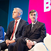 Conservative Party Conference at Manchester Central, Manchester, Great Britain <br /> 29th September 2019<br /> <br /> Day 1 <br /> <br /> Steve Barclay and Jacob Rees-Mogg <br /> <br /> <br /> Photograph by Elliott Franks