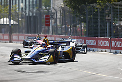 July 15, 2018 - Toronto, Ontario, Canada - ALEXANDER ROSSI (27) of the United States battles for position during the Honda Indy Toronto at Streets of Toronto in Toronto, Ontario. (Credit Image: © Justin R. Noe Asp Inc/ASP via ZUMA Wire)