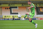 Forest Green Rovers Kevin Dawson(18) controls the ball during the EFL Sky Bet League 2 match between Cambridge United and Forest Green Rovers at the Cambs Glass Stadium, Cambridge, England on 7 September 2019.