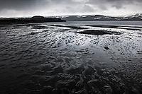 Lake Kleifarvatn on the Reykjanes Peninsula. Viewing northeast towards Syðri Stapi. Kleifarvatn á Reykjanesi. Horft í norðaustur að Syðri Stapa.