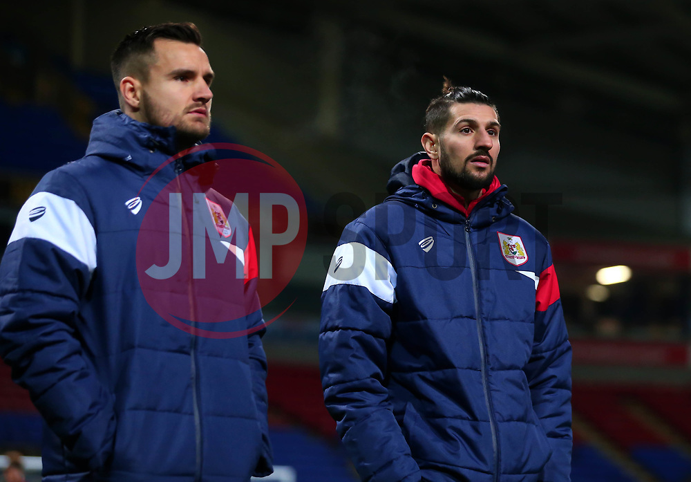 Eros Pisano and Bailey Wright of Bristol City arrive at the Macron Stadium ahead of the fixture with Bolton Wanderers - Mandatory by-line: Robbie Stephenson/JMP - 02/02/2018 - FOOTBALL - Macron Stadium - Bolton, England - Bolton Wanderers v Bristol City - Sky Bet Championship