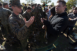 December 21, 2017 - Sevilla, Spain - WWE Superstar 'The Miz' meets with Marines assigned to Special Purpose Marine Air-Ground Task Force Crisis Response Africa as part of a troop engagement during the Chairmans USO Holiday Tour at Moon Air Base Dec. 21, 2017. .(Credit Image: