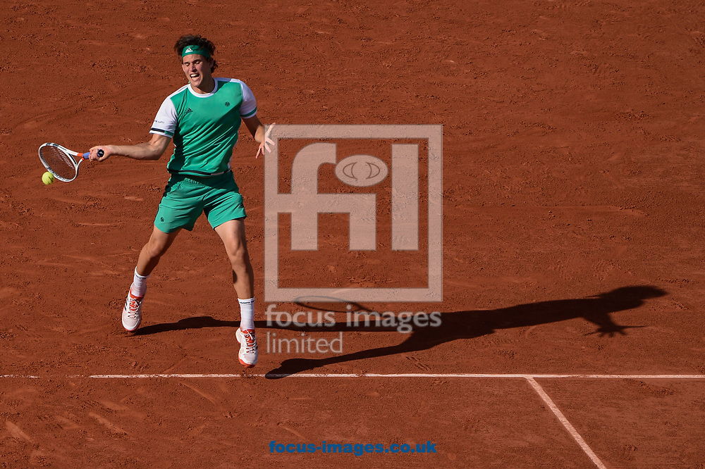 Dominic Thiem of Austria on day thirteen of the French Open  Tournament of the ATP Tour at Roland Garros, Paris<br /> Picture by EXPA Pictures/Focus Images Ltd 07814482222<br /> 09/06/2017<br /> *** UK &amp; IRELAND ONLY ***<br /> <br /> EXPA-THI-170609-5354.jpg