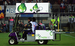 First aid vehicle  at the fourth round qualification game of 2010 FIFA WORLD CUP SOUTH AFRICA in Group 3 between Slovenia and Northern Ireland at Stadion Ljudski vrt, on October 11, 2008, in Maribor, Slovenia.  (Photo by Vid Ponikvar / Sportal Images)