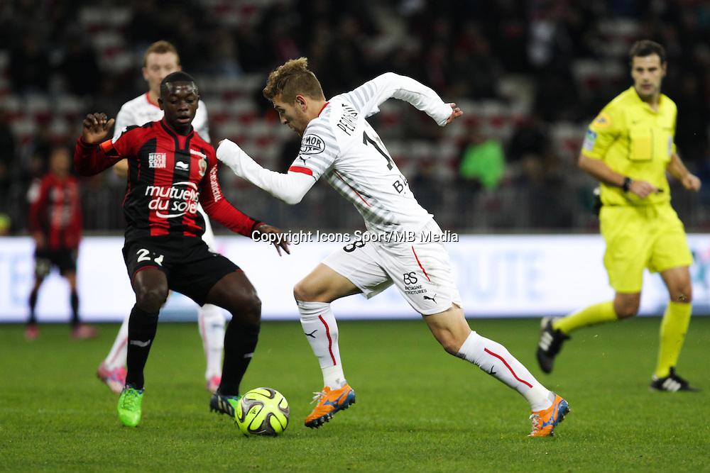 Nampalys MENDY / Pedro  HENRIQUE - 03.12.2014 - Nice / Rennes - 16eme journee de Ligue 1 -<br /> Photo : Jean Christophe Magnenet / Icon Sport