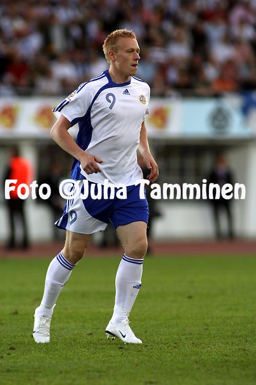 06.06.2007, Olympic Stadium, Helsinki, Finland..UEFA European Championship 2008.Group A Qualifying Match Finland v Belgium.Mikael Forssell - Finland.©Juha Tamminen.....ARK:k