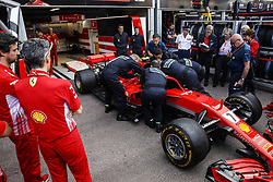May 23, 2018 - Montecarlo, Monaco - Extrication Sapeurs Pompiers de Monaco training with the Ferrari during the Monaco Formula One Grand Prix  at Monaco on 23th of May, 2018 in Montecarlo, Monaco. (Credit Image: © Xavier Bonilla/NurPhoto via ZUMA Press)