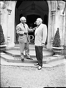Mr. Frank Cryan and Mr. Larry Doyle chatting.<br /> 13.07.1961