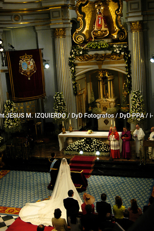 The Prince of Asturias Felipe de Borbon and Letizia Ortiz Rocasolano wedding at Almudena Cathedral in Madrid on May 22, 2004. Photo by: JESUS M. IZQUIERDO / DyD Fotografos / DyD PPA / i-Images..SPAIN OUT