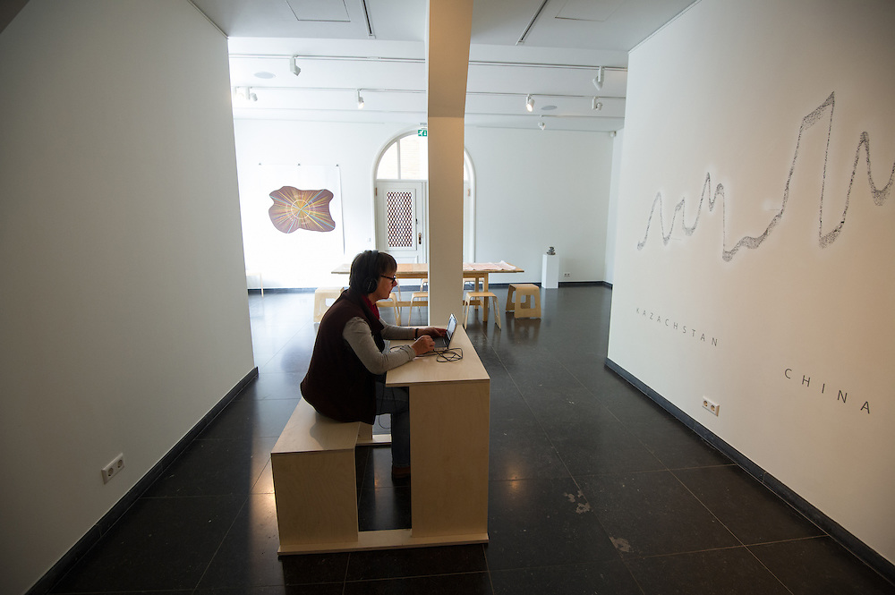 Foto: Gerrit de Heus. Schiedam. 20-05-2016. Tentoonstelling 'Zoektocht naar het Paradijs' van Arita Baaijens.