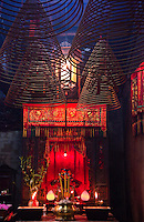 Incense abounds in the Tin Hau Temple, Hong Kong