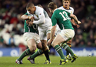Photo © SPORTZPICS/ SECONDS LEFT IMAGES 2010/ Colm O'Neill - South Africa's Bryan Habana is tackled by Cian Healy and Brian O'Driscoll (13) of Ireland - Ireland v South Africa - Guinness Series 2010 - Aviva Stadium - Dublin - Ireland - 06/11/10 - All rights reserved