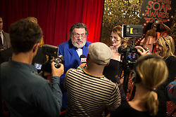 © Licensed to London News Pictures . 16/05/2015 .  The Palace Hotel , Manchester , UK . RICKY TOMLINSON talking to media . The red carpet at the 2015 British Soap Awards , The Palace Hotel , Oxford Road , Manchester . Photo credit : Joel Goodman/LNP