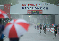 Prudential RideLondon-Surrey 100<br /> Finish Area<br /> Prudential RideLondon, the world's greatest festival of cycling, involving 70,000+ cyclists – from Olympic champions to a free family fun ride - riding in five events over closed roads in London and Surrey over the weekend of 9th and 10th August. <br /> <br /> Photo: Roger Allen for Prudential RideLondon<br /> <br /> See www.PrudentialRideLondon.co.uk for more.<br /> <br /> For further information: Penny Dain 07799 170433<br /> pennyd@ridelondon.co.uk