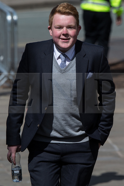 © Licensed to London News Pictures . 30/05/2015 . Manchester , UK . COLSON SMITH arrives  . A public memorial for Coronation Street actress Anne Kirkbride at Manchester Cathedral , who died on 19th January 2015 . Photo credit : Joel Goodman/LNP