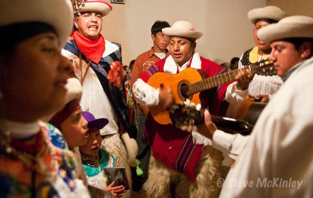 CAYAMBE, ECUADOR: AUGUST 07, 2005 -- CAYAMBE FIESTA -- Las Octavas de Juan Montalvo Fiesta in Juan Montalvo, a pueblo near Cayambe...Steve McKinley Photo.