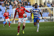 Walsall FC midfielder Sam Manton controls the ball during the The FA Cup fourth round match between Reading and Walsall at the Madejski Stadium, Reading, England on 30 January 2016. Photo by Mark Davies.
