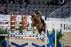 ROBERT Olivier (FRA), Tempo de Paban<br /> Göteborg - Gothenburg Horse Show 2019 <br /> Longines FEI Jumping World Cup™ Final<br /> Training Session<br /> Warm Up Springen / Showjumping<br /> Longines FEI Jumping World Cup™ Final and FEI Dressage World Cup™ Final<br /> 03. April 2019<br /> © www.sportfotos-lafrentz.de/Stefan Lafrentz