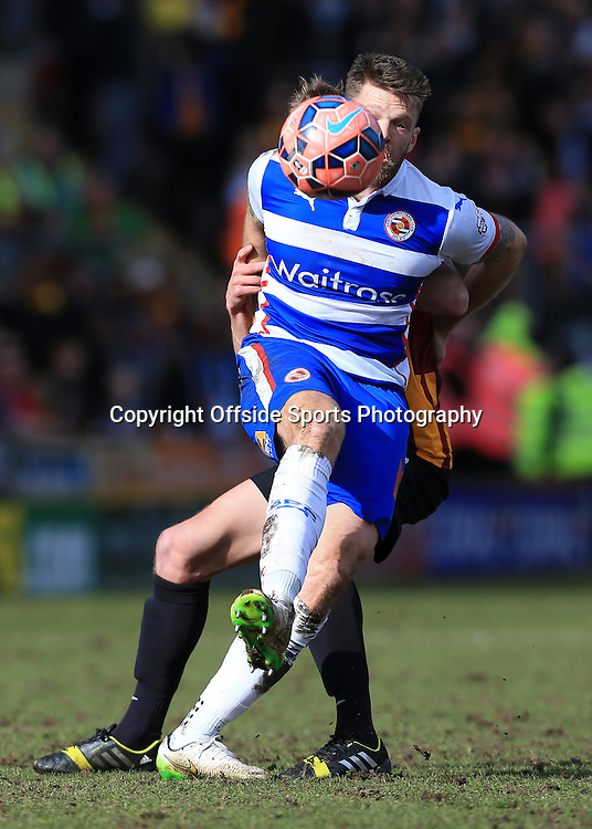 7th March 2015 - FA Cup - Quarter-Final - Bradford City v Reading - Jamie Mackie of Reading - Photo: Simon Stacpoole / Offside.