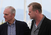Actor Keir Dullea and Rendezvous With: Director Christopher Nolan at the Rendezvous With: Director Christopher Nolan photo call at the 71st Cannes Film Festival, Saturday 12th May 2018, Cannes, France. Photo credit: Doreen Kennedy
