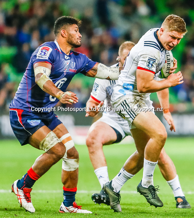 Owen Franks during Rebels v Crusaders, 2018 Super Rugby season, AAMI Park, Melbourne, Australia. 4 May 2018. Copyright Image: Brendon Ratnayake / www.photosport.nz