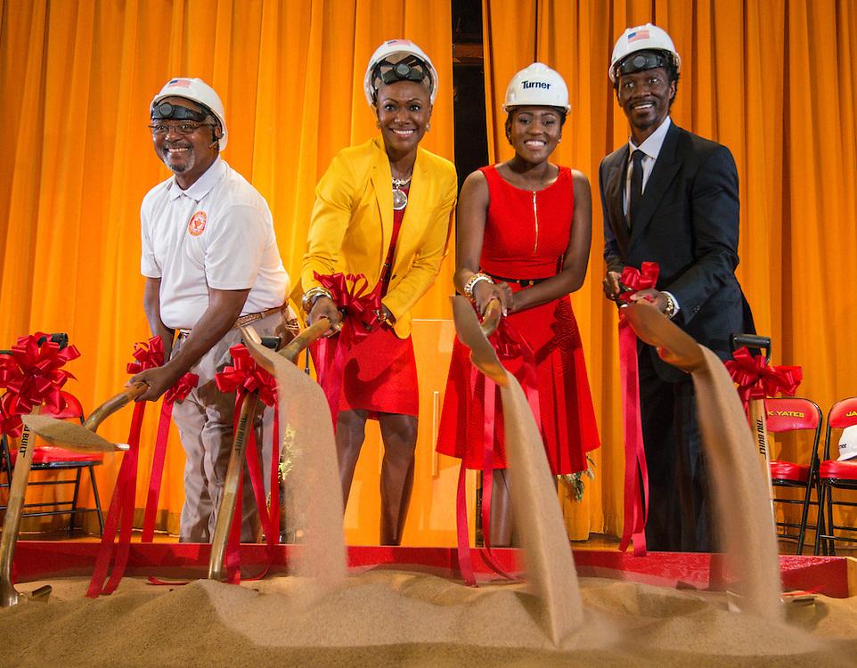 groundbreaking ceremony at Yates High School, June 2, 2016.
