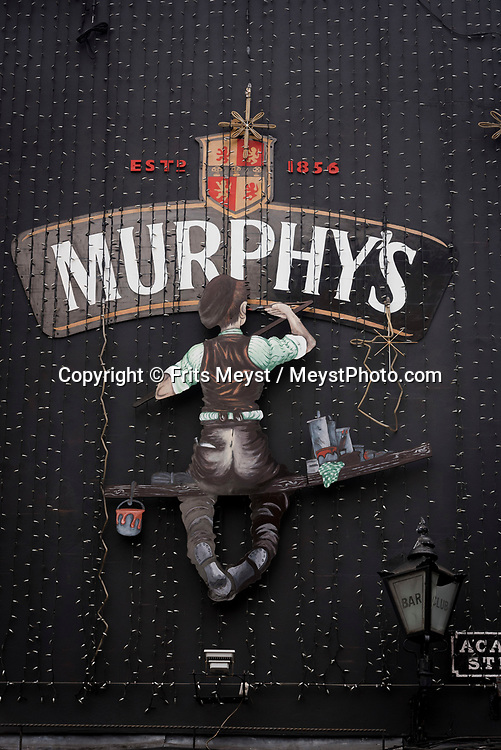 Cork, Southern Ireland, August 2016.  A mural for Murphy's stout.  A coastal road trip from Kilkenny to Cork via Wexford and Waterford.  Photo by Frits Meyst / MeystPhoto.com