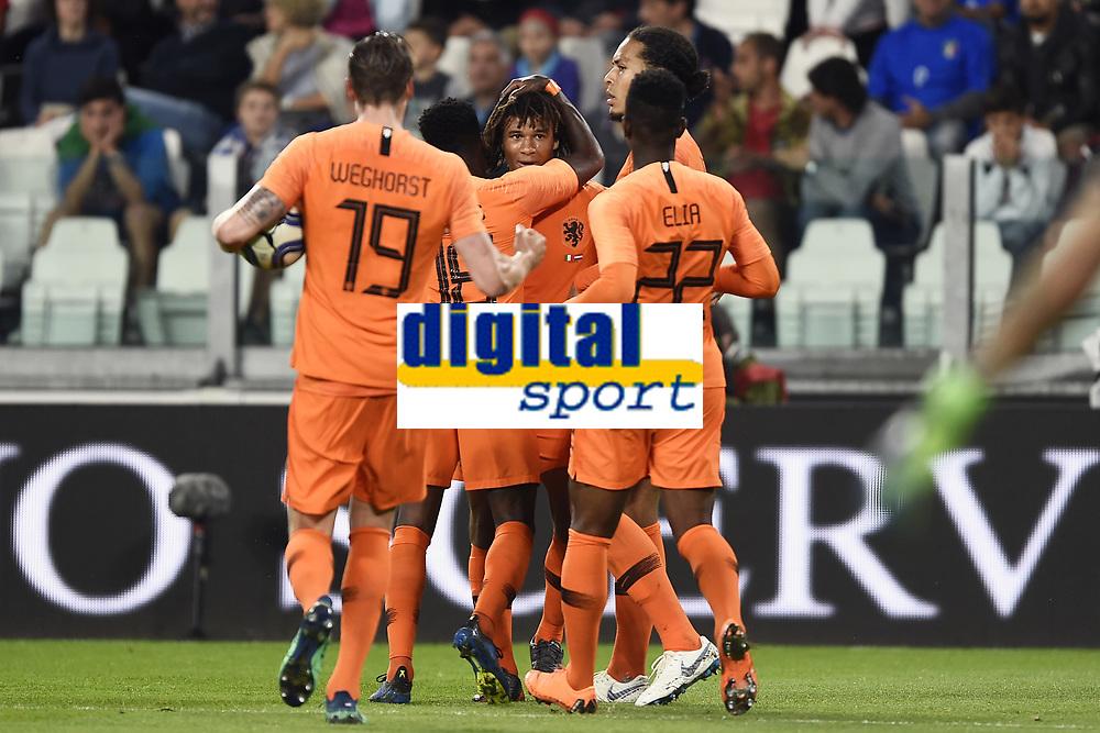 esultanza gol Nathan Ake'  <br /> Torino 04-06-2018 Allianz Stadium <br /> Football Friendly Match Italy - Netherlands <br /> Calcio Amichevole Italia - Olanda <br /> Foto Daniele Buffa / Image Sport / Insidefoto