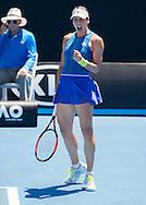 ANDREA PETKOVIC (GER) macht die Faust und jubelt,Jubel,Emotion<br /> <br /> <br /> Australian Open 2017 -  Melbourne  Park - Melbourne - Victoria - Australia  - 19/01/2017.