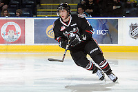 KELOWNA, CANADA - FEBRUARY 18: Chad Robinson #17 of the Red Deer Rebels skates on the ice as the Red Deer Rebels visit the Kelowna Rockets on February 18, 2012 at Prospera Place in Kelowna, British Columbia, Canada (Photo by Marissa Baecker/Shoot the Breeze) *** Local Caption ***