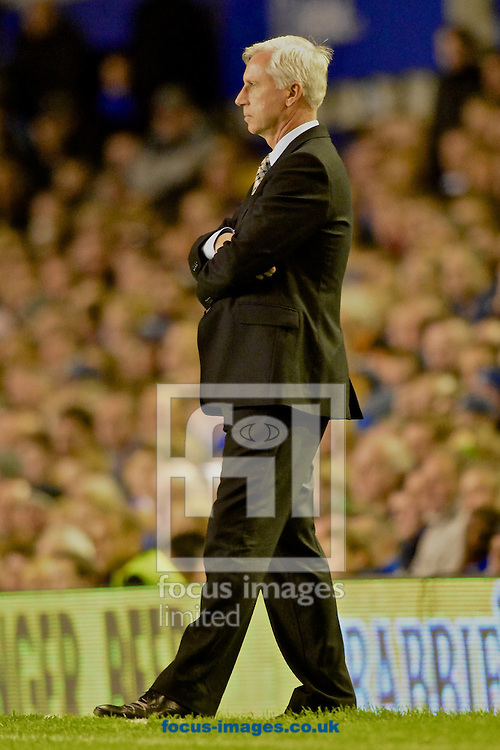 Picture by Ian Wadkins/Focus Images Ltd +44 7877 568959<br /> 30/09/2013<br /> Newcastle United manager Alan Pardew during the Barclays Premier League match at Goodison Park, Liverpool.