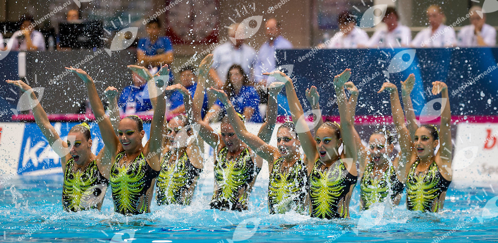 ITA ITALY<br /> Synchro Team Tech Preliminary Round<br /> 32nd LEN European Championships <br /> Berlin, Germany 2014  Aug.13 th - Aug. 24 th<br /> Day01 - Aug. 13<br /> Photo P. Mesiano/Deepbluemedia/Inside