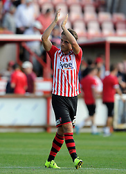 Exeter City's Tom Nichols - Photo mandatory by-line: Harry Trump/JMP - Mobile: 07966 386802 - 08/08/15 - SPORT - FOOTBALL - Sky Bet League Two - Exeter City v Yeovil Town - St James Park, Exeter, England.