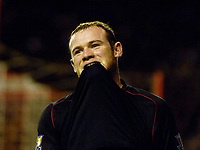 Photo: Jed Wee/Sportsbeat Images.<br /> Sunderland v Manchester United. The FA Barclays Premiership. 26/12/2007.<br /> <br /> Manchester United's Wayne Rooney rues a missed chance.